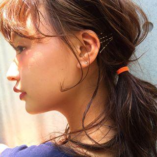 わたなべ麻衣(渡部麻衣)耳かけ髪型